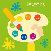 Children creativity and art development. — Stock Vector