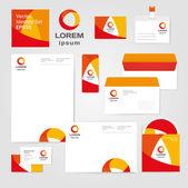 Identity corporate set design template — Stock Vector