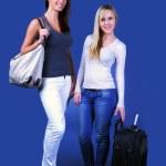 Travel girls — Stock Photo