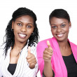 Thumbs up - smiling women — Stock Photo
