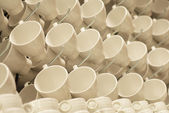 Cups background — Stock Photo