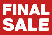 Final Sale sign — Stock Photo