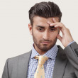 Stock Photo: Worried businessman