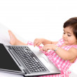 Laptop baby — Stock Photo