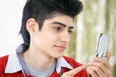 Text messaging junge — Stockfoto