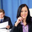 Pretty office girl smiling — Stockfoto