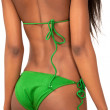 Bikini girl rear view — Stock Photo