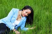 Woman in meadow — Stock Photo