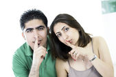 Couple secret — Stock Photo