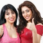 Thumbs up - latino women — Stock Photo