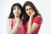 Two worried women — Stock Photo