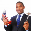 Handy businessman — Stock Photo