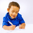 Kid writing — Stock Photo