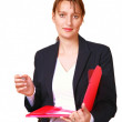 Supervisor with file — Stock Photo