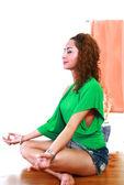 Indoor yoga — Stock Photo