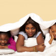 Bedtime woes, unhappy kids with mother — Stock Photo