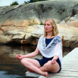 Stock Photo: Yogmeditation and peace in nature