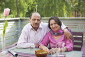 Retired indian couple — Stock Photo
