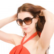Summer fashion girl — Stock Photo