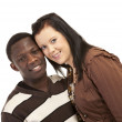 Happy mixed couple — Stock Photo