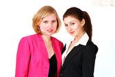Twee schattige zakenvrouwen — Stockfoto