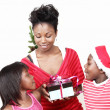 Stock Photo: Christmas family presents