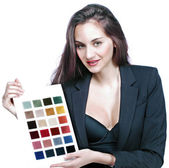 Color and fabric woman — Stock Photo