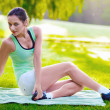 Woman exercising outdoor — Stock Photo #31156761