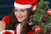 Happy Christmas girl — Stock Photo