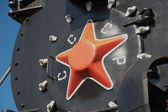 Loco red star — Stock Photo