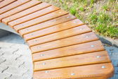 Wooden curve bench — Stock Photo