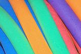 Mousse de caoutchouc coloré — Photo
