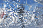 Spirals in ice — Stock Photo