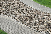 Walkways and stones — Stock Photo