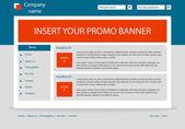 Website Business-Template-Layout mit text — Stockvektor