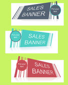 Sale banner with text field — Stock Vector