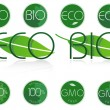 Bio and eco symbols. — Vector de stock