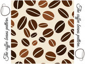 Coffee beans seamless pattern. — Stock Vector