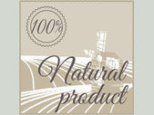 Natural product label. — Stock Vector