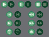 Set of play, pause end other buttons. — Stockvector