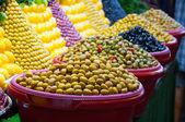 Shop olives — Stock Photo
