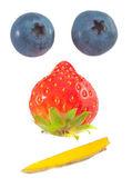 Natura morta di frutta — Foto Stock