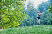 Female athlete on park — Foto de Stock