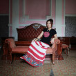 chiński dama w sali starodawny stary — Zdjęcie stockowe #30357147