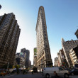 The outlook of Flatiron Building — 图库照片