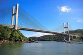 La vista del ponte con le scene di mare a hong kong — Foto Stock