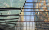 The windows wall and glass buildings — Stock Photo