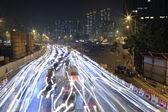 Traffic jam surround the West Kowloon Terminus site in Kowloon — Stock Photo