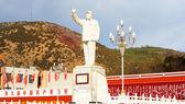 Chairman Mao statue in Lijiang new town — Stock Photo