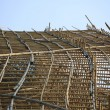 Thousands of bamboo which is the Scaffolding project in office building construction site in hong kong downtown — Stock Photo #46875579